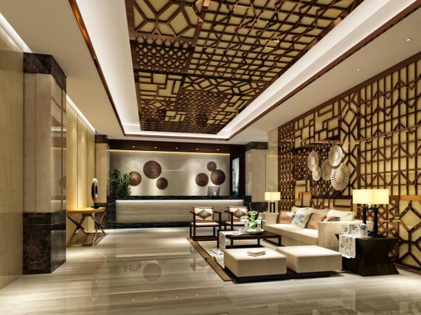 3d render des luxus-interieur - hotels in der türkei stock-fotos und bilder