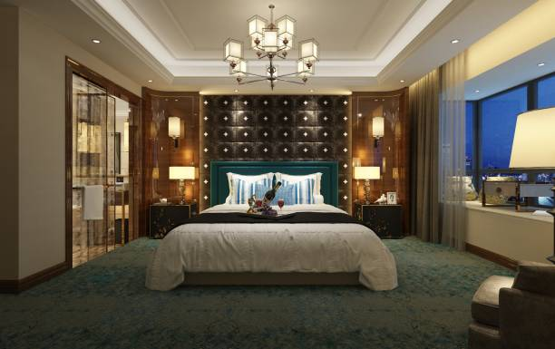 3d render of luxury hotel room 3d render of luxury hotel room luxury hotel room stock pictures, royalty-free photos & images