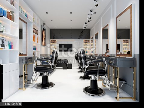 1131824191 istock photo 3d render of man barber shop 1140134329