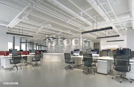 istock 3d render of modern empty office 1008435498