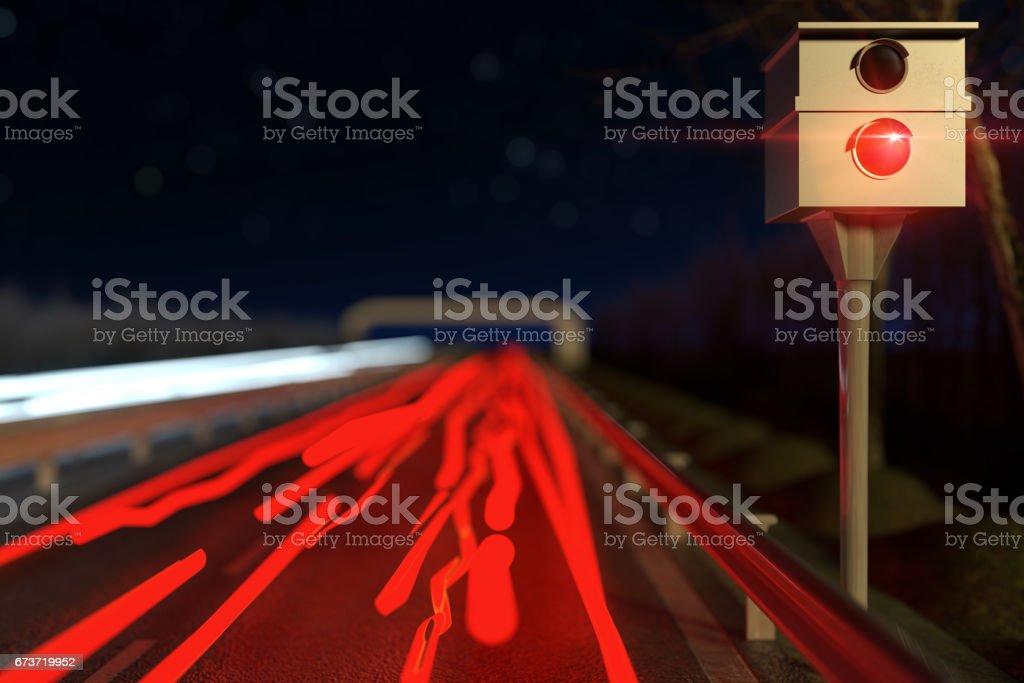 rendu 3D du piège à radar rue photo libre de droits