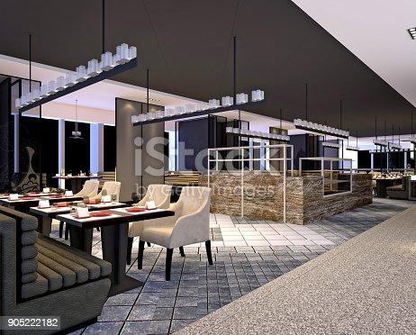 istock 3d render of restaurant 905222182