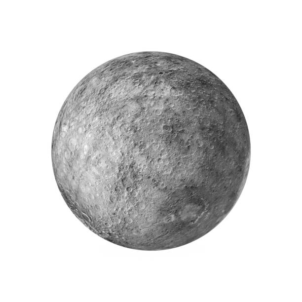 3d render of the moon isolated on white background stock photo
