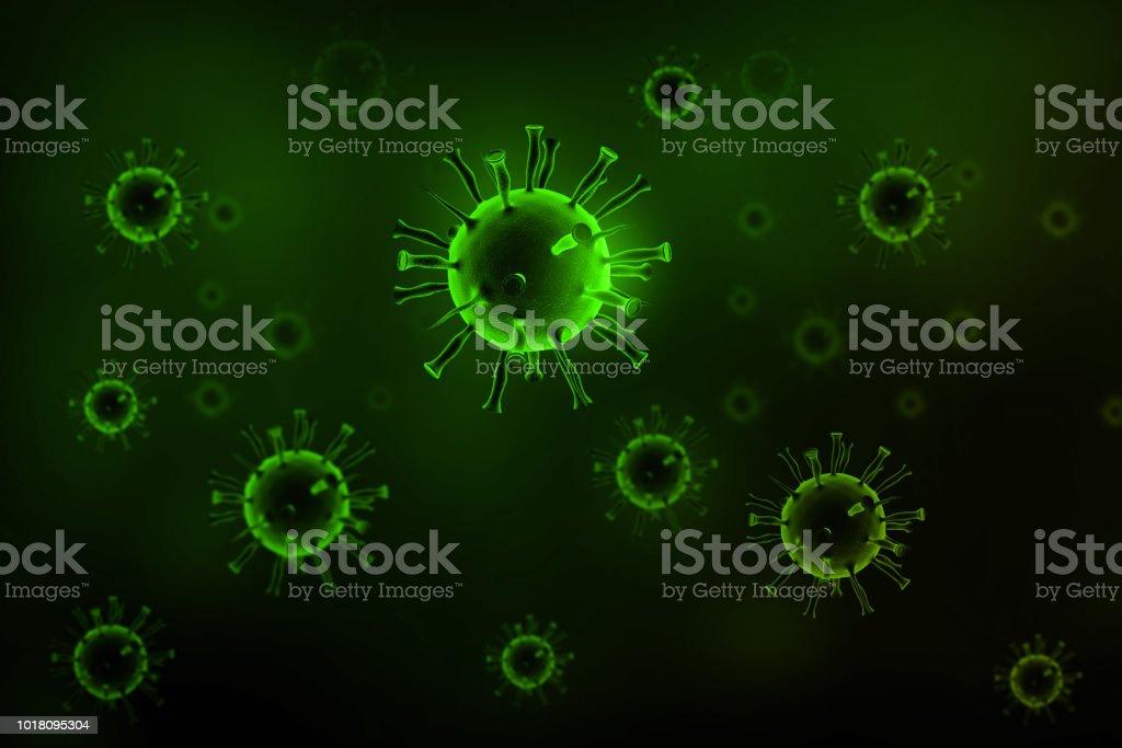 3d render of Virus stock photo