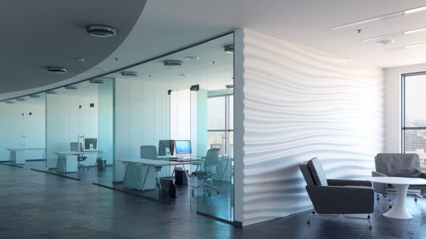 3d render office interior - Photo