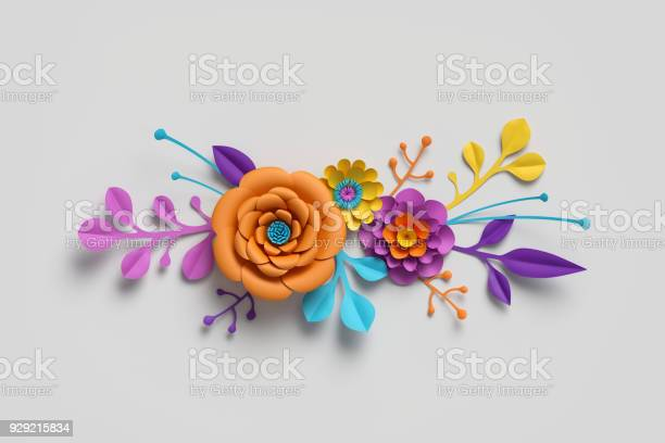 3d render paper flowers bright color palette botanical background picture id929215834?b=1&k=6&m=929215834&s=612x612&h=xdhhkl s oayiiq1nannayizzanawikih6ee3rynxay=