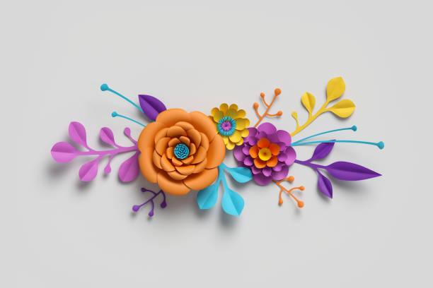 3d render paper flowers bright color palette botanical background picture id929215834?b=1&k=6&m=929215834&s=612x612&w=0&h= jdpabs9utbyurk6igi6ukqacauhyyairclpt84jllk=