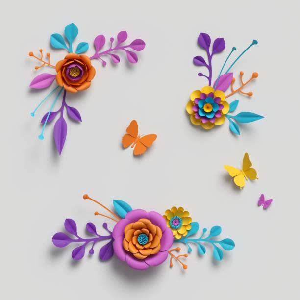 3d render paper flowers clip art decorative elements floral pattern picture id929215964?b=1&k=6&m=929215964&s=612x612&w=0&h=thqdtjgrn n9k7kosvsaxvyaefszq lroy70mgtf6rg=