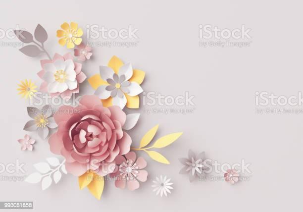 3d render pastel paper flowers botanical arrangement floral clip art picture id993081858?b=1&k=6&m=993081858&s=612x612&h=76utqkd teb4y9dhfr7g57byne9e6nzhmbh6hdfdwme=
