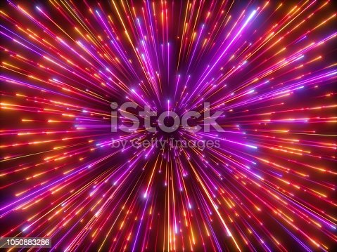 istock 3d render, red sparkling fireworks, big bang, galaxy, abstract cosmic background, falling stars, celestial cosmos, beauty of universe, speed of light, neon infrared light, outer space, glow 1050883286