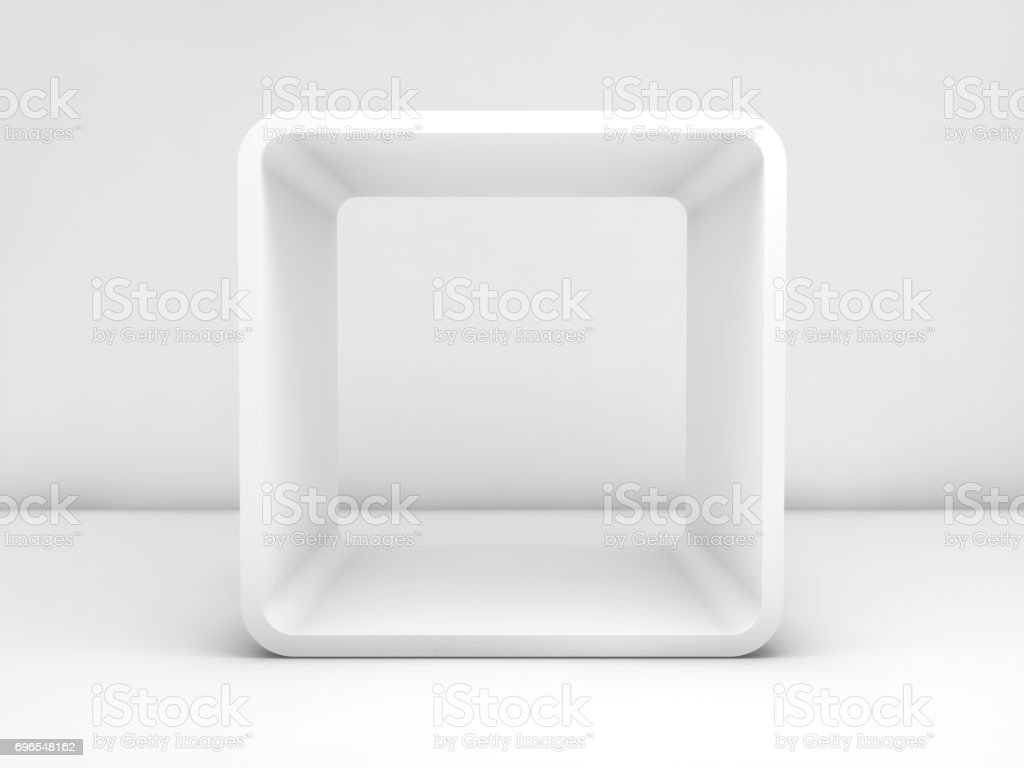 3d Render Room With Chamfer Box Frame Stock Photo More Pictures Of
