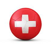 3d Render Soccerball - Switzerland