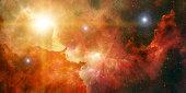 3d Render Space Nebula