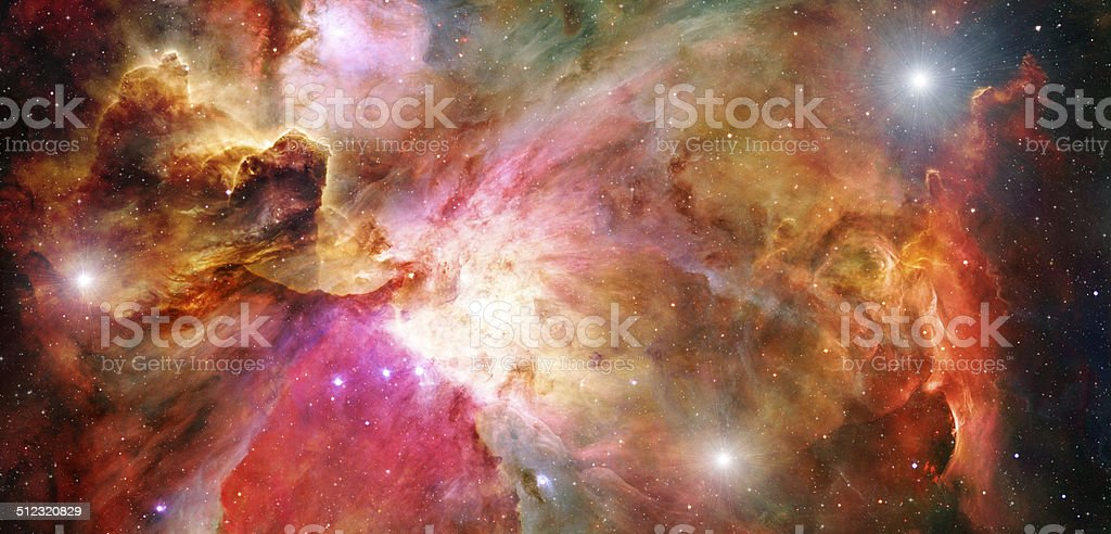 3d Render Space Nebula stock photo