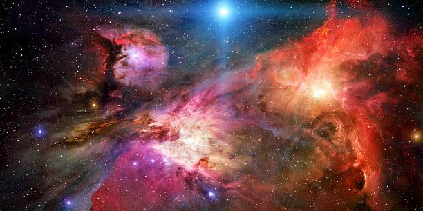 3d Render Space Nebula stock photo