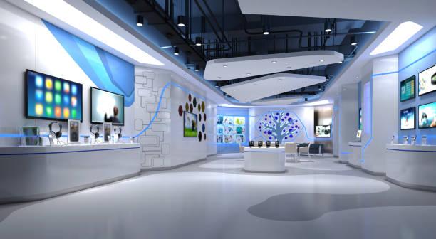 3d 渲染技術商店 - 商店 個照片及圖片檔