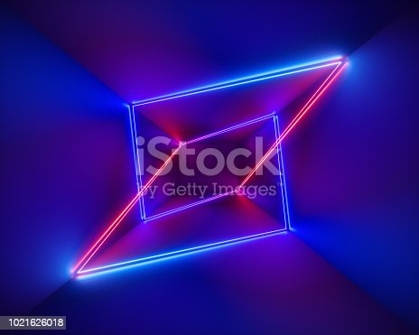 1058076636 istock photo 3d render, ultraviolet, infrared, neon lines, laser show, night club interior lights, colorful glowing shapes, abstract fluorescent background, virtual reality, psychedelic spectrum 1021626018