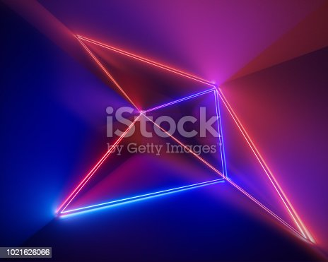 973972612istockphoto 3d render, ultraviolet, infrared, neon lines, laser show, night club interior lights, colorful glowing shapes, abstract fluorescent background, virtual reality, psychedelic spectrum 1021626066