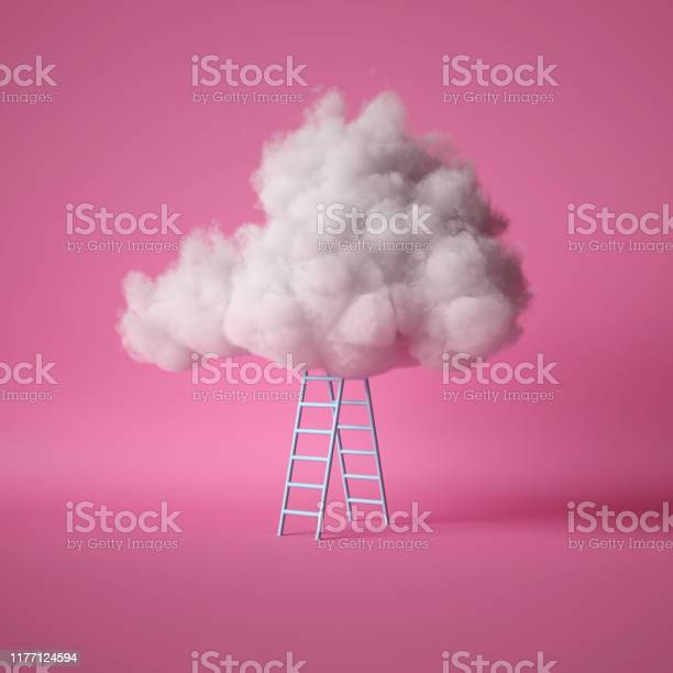 3d render white fluffy cloud above the blue ladder isolated on pink picture id1177124594?b=1&k=6&m=1177124594&s=612x612&h=d94ms2can0l0qyddmncn2rbpi8wuodso3kmjhvd0fgm=