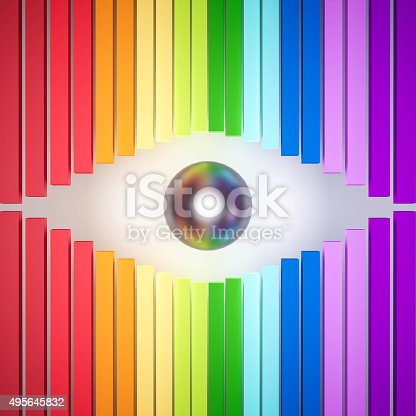 istock 3d rendered, colorful rainbow abstract eye 495645832