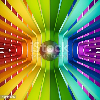 istock 3d rendered, colorful rainbow abstract 495645760