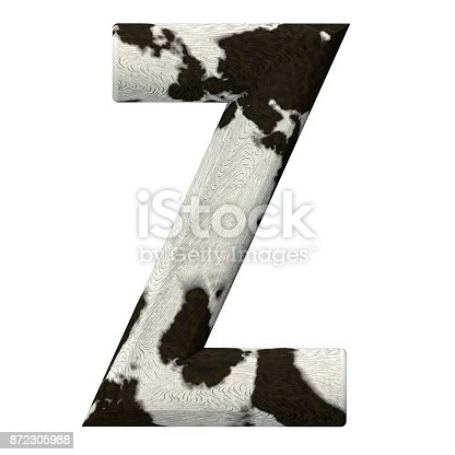 istock 3d Rendered Cow Skin Alphabet and Numbers 872305988