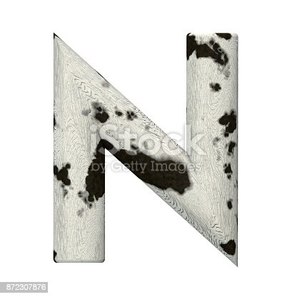 istock 3d Rendered Cow Skin Alphabet and Numbers 872307876