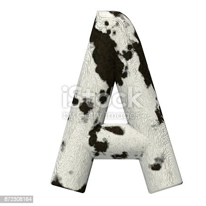 istock 3d Rendered Cow Skin Alphabet and Numbers 872308164