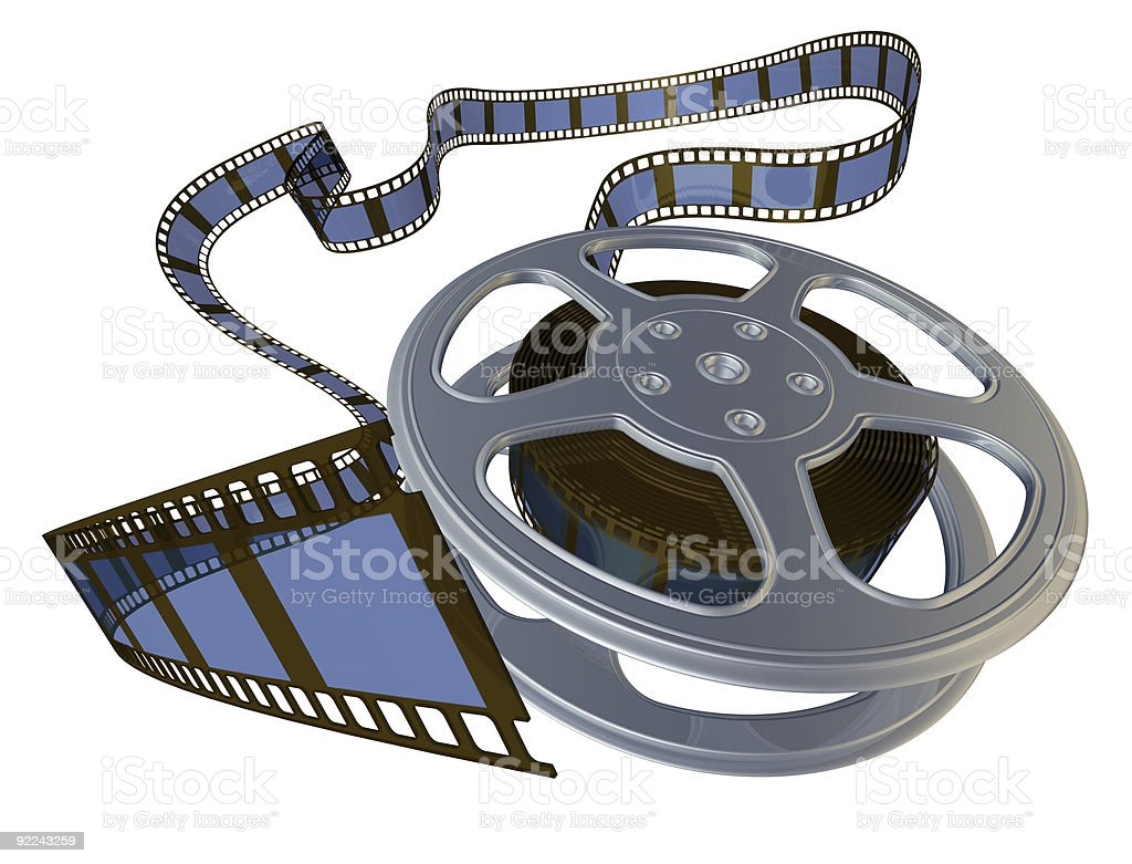 3d rendered film reel royalty-free stock photo