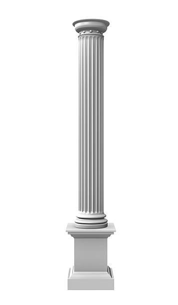 3 d illustration von aus der Spalte weißen – Foto