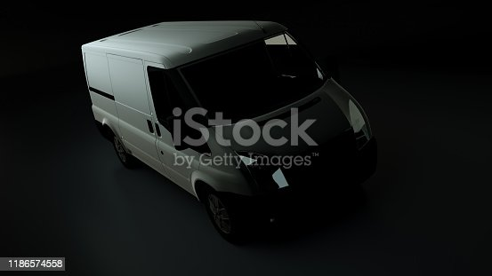 510998733istockphoto 3d rendered illustration of a white delivery van 1186574558