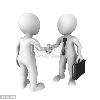 istock 3d rendered white people shake hands 511927866