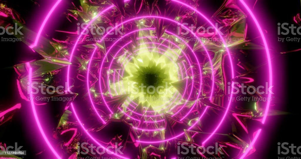 3d Rendering Abstract Background Cosmic Landscape Round