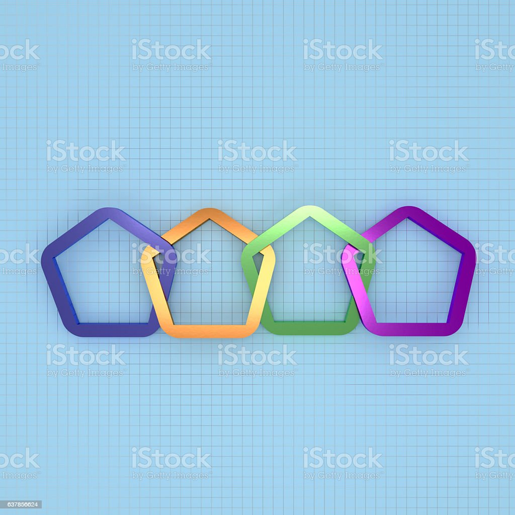 3d Rendering Abstract Colorful Frame For Info Graphic Design