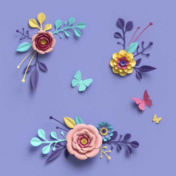 3d rendering abstract papercraft floral isolated elements botanical picture id909097292?b=1&k=6&m=909097292&s=612x612&w=0&h=g8xf4u83uymqtws6pwbszefsabybhopg7aaxhbt5zhq=
