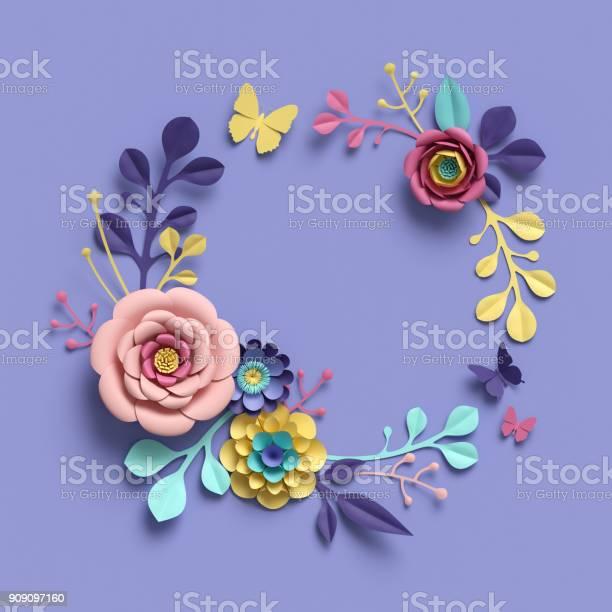 3d rendering abstract papercraft floral wreath botanical background picture id909097160?b=1&k=6&m=909097160&s=612x612&h=skhhsm jkvjfs476giqqtlmtgmxn0nlrtous2uw9 ss=