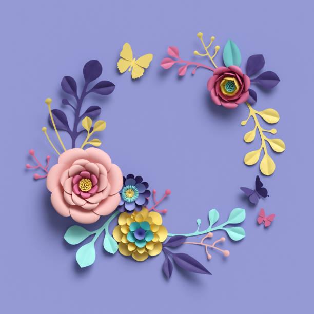 3d rendering abstract papercraft floral wreath botanical background picture id909097160?b=1&k=6&m=909097160&s=612x612&w=0&h=l1grndxrdbabck3un 1jph99sh3u84cgw9npy22l z0=