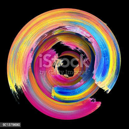 921375446istockphoto 3d rendering, abstract twisted brush stroke, paint splash, splatter, colorful circle, artistic spiral, vivid ribbon 921379690