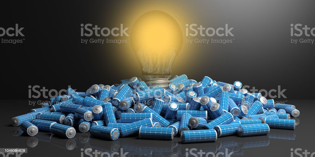 3d rendering alternative electricity concept stock photo