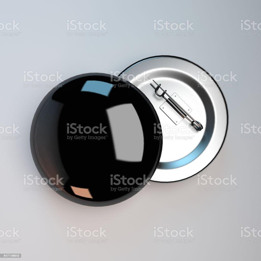 3d rendering badge pin brooch illustration stock photo