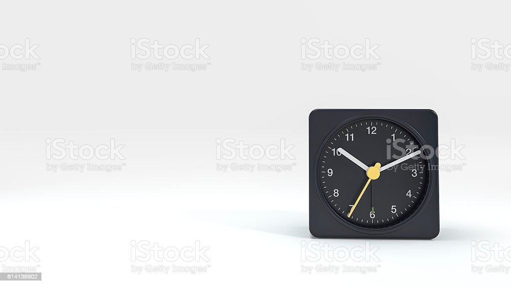 3d rendering beautiful modern design dark clock stock photo