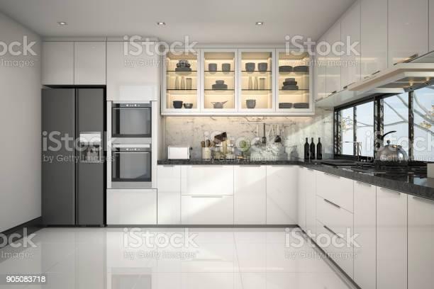 3d rendering beautiful modern white kitchen with marble decor picture id905083718?b=1&k=6&m=905083718&s=612x612&h=h7hkz3tujq4mehntbzdmnjucuwebehycqjzvmfmhvli=