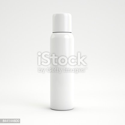 istock 3d rendering Blank cosmetics bottle isolated on white background with copy space. 844144600
