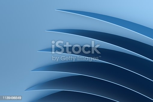 istock 3d rendering, blue metalic surface and graphic design background 1139496549