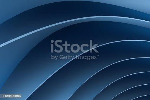 istock 3d rendering, blue metalic surface and graphic design background 1139496556