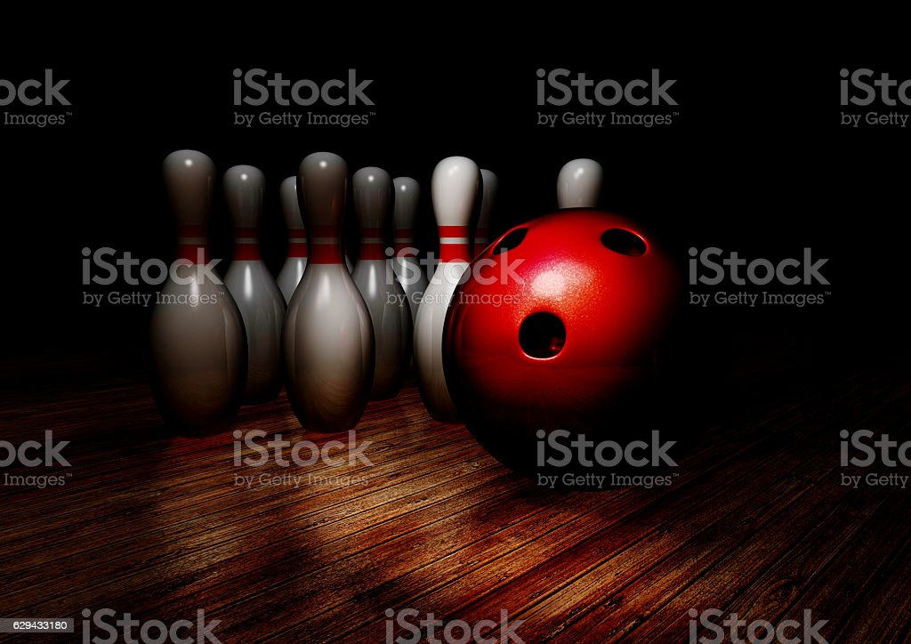 3d rendering bowling 3d illustration stock photo