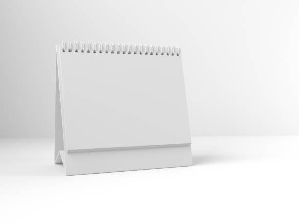 maquette du calendrier rendu 3d - calendrier digital journée photos et images de collection