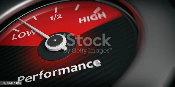 istock 3d rendering car indicator low performance 1014015124