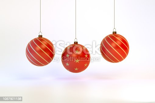 istock 3d rendering Christmas ball background 1057921138