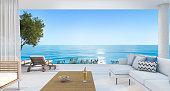istock 3d rendering contemporary nice living room near beach 621384678